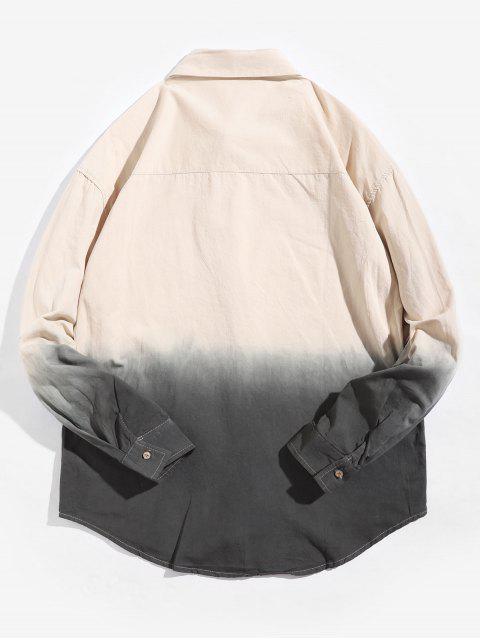 Camisa Asimétrica de Manga Larga con Estampado Degradado - Albaricoque XS Mobile