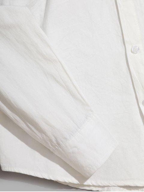 Camisa Asimétrica de Manga Larga con Estampado Degradado - Negro XS Mobile