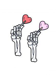 الهيكل العظمي اليد عاشق دبابيس - أبيض