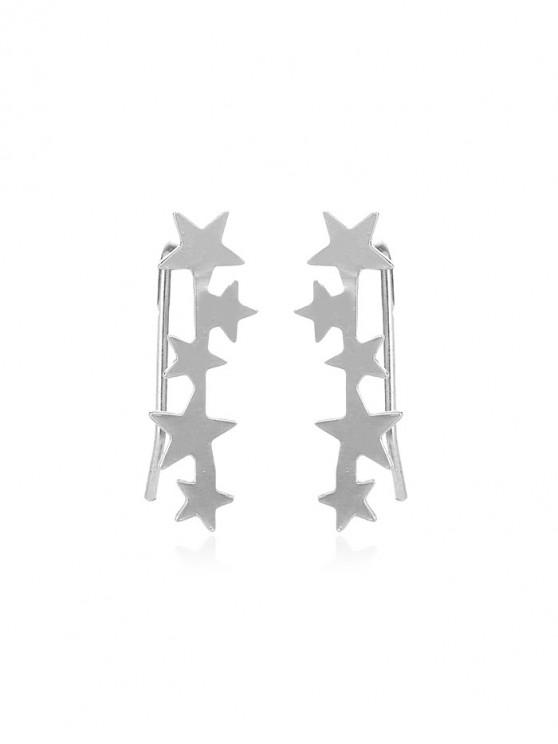 chic Metal Simple Stars Earrings - SILVER