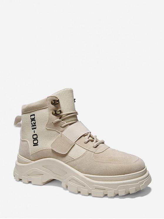 online Outdoor Letter Graphic Hook Loop Cargo Shoes - BEIGE EU 44