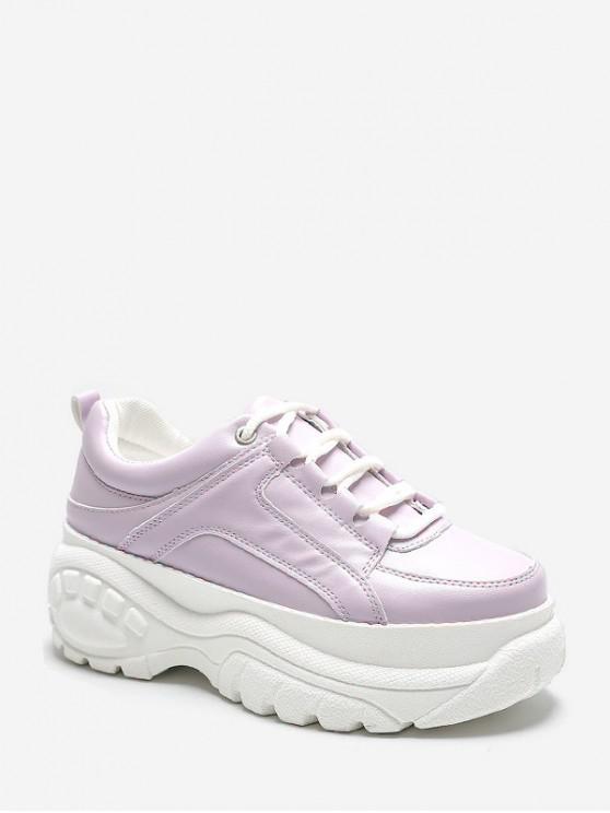 Zapatillas casual con cordones y plataforma para papá - Lila EU 41