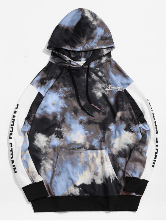 online Letter Print Tie Dye Pullover Hoodie - MULTI-A L
