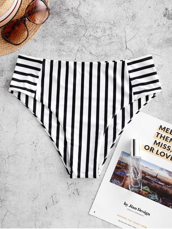 women ZAFUL Striped High Waisted Swim Bottom - MULTI-A S