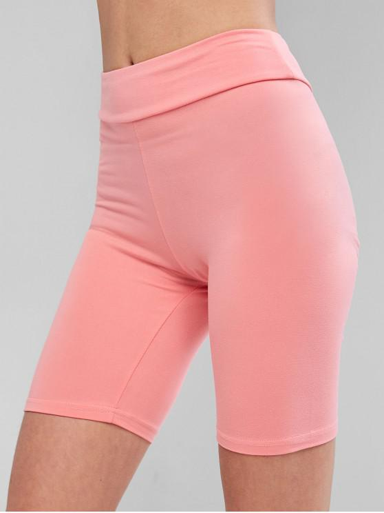outfits Basic Bike Shorts - PINK L