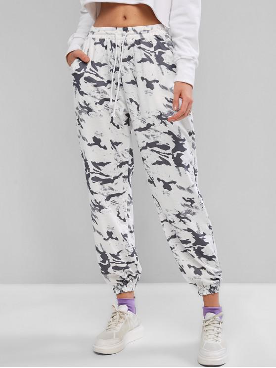 hot Camouflage Drawstring Loose Jogger Pants - GRAY M