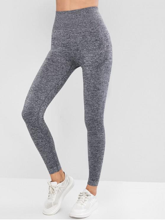 shop High Waist Heathered Sports Leggings - GRAY L