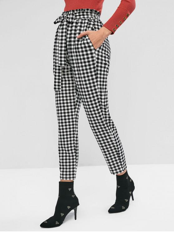 outfit ZAFUL Plaid Paperbag Pants - MULTI XL