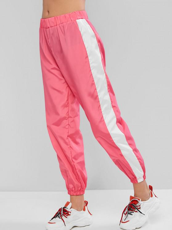 outfit High Waisted Contrast Neon Jogger Pants - PINK L