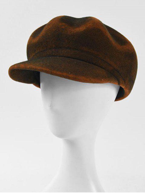 ladies Peaked Unisex Stylish Beret Hat - COFFEE  Mobile