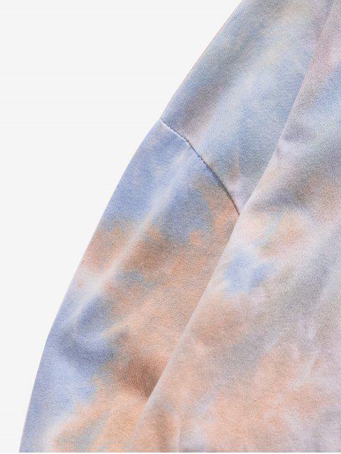 Camiseta de manga larga con estampado Tie Dye Print - Color de Melocotón Oscuro XL Mobile
