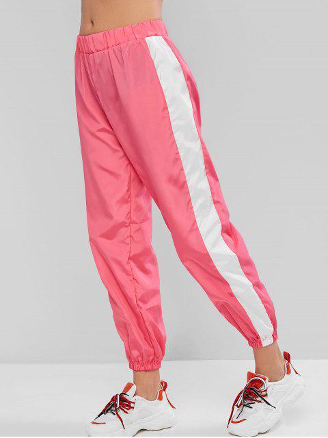 Alto contraste con cintura de neón del basculador de pantalones - Rosado M Mobile
