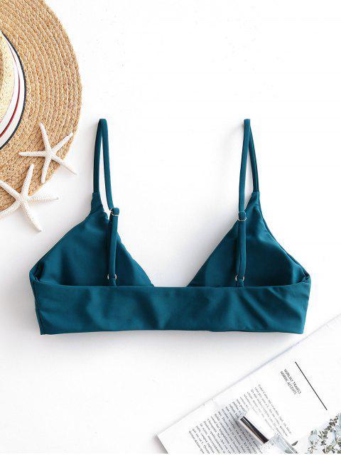 Bikini Di ZAFUL Con Spalline Sottili - Blu pavone M Mobile