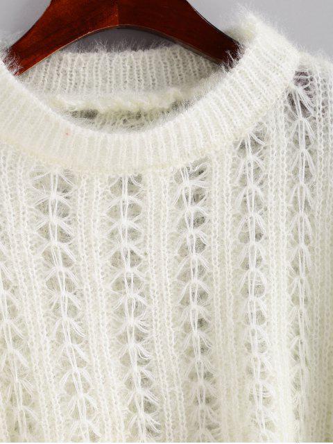 ZAFUL Midi Strickkleider mit Türkis und unregelmäßigem Saum - Weiß Eine Größe Mobile