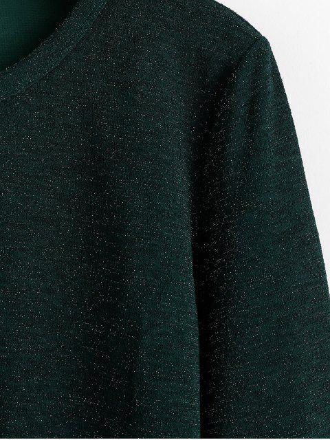 chic ZAFUL Long Sleeve Glittery Top - MEDIUM SEA GREEN L Mobile