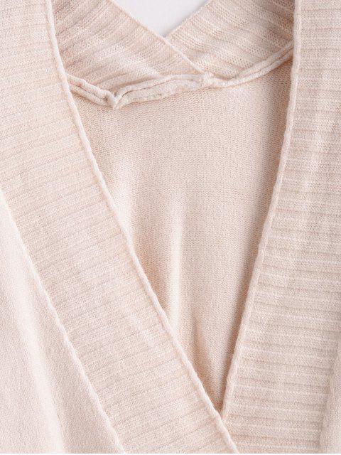 平針織長袖開衫 - 白色 One Size Mobile