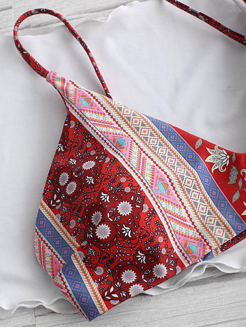 ZAFULTres Piezas de BIkini con Estampado de Bohemio - Rojo de Valentín S Mobile
