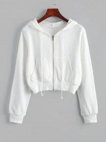 زمم جيوب المحاصيل الرباط قلنسوة - أبيض S