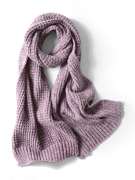 Bufanda elegante unisex simple invierno suave tejido largo - Púrpura de Wisteria