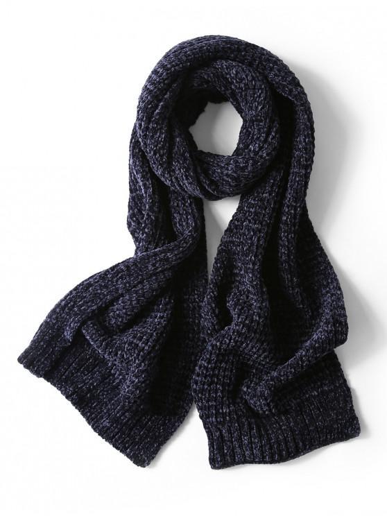 Bufanda elegante unisex simple invierno suave tejido largo - Cadetblue