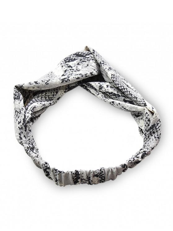 unique Snakeskin Pattern Fabric Cross Elastic Headband - GRAY
