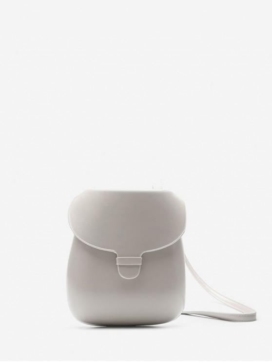 outfits Chic Solid Color Decoration Crossbody Bag - MILK WHITE