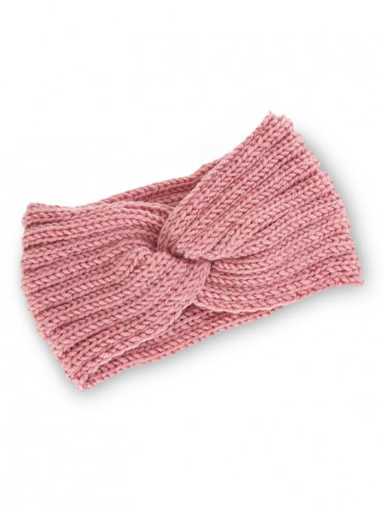 unique Knitted Braid Knot Elastic Headband - PINK