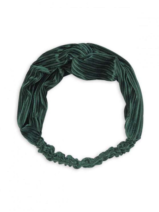 trendy Vintage Striped Cross Elastic Headband - DARK GREEN