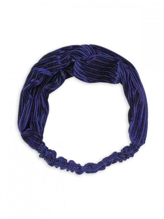 hot Vintage Striped Cross Elastic Headband - CADETBLUE
