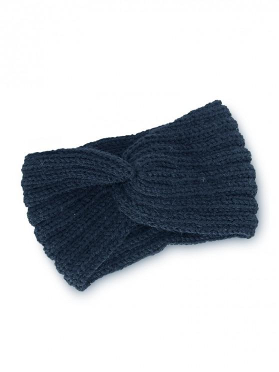 outfits Knitted Braid Knot Elastic Headband - CADETBLUE