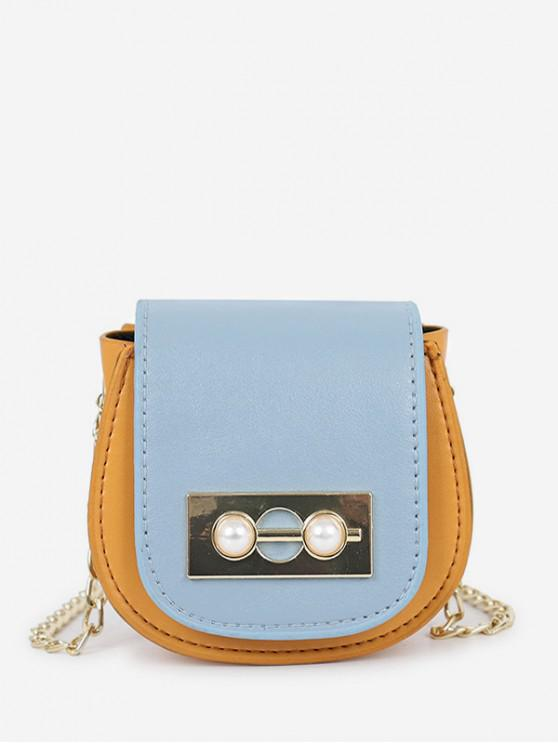 shops Chic Faux Pearl Decoration Crossbody Bag - BEE YELLOW