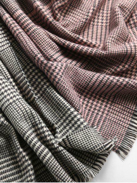 unique Houndstooth Winter Gradient Chic Scarf - PINK  Mobile
