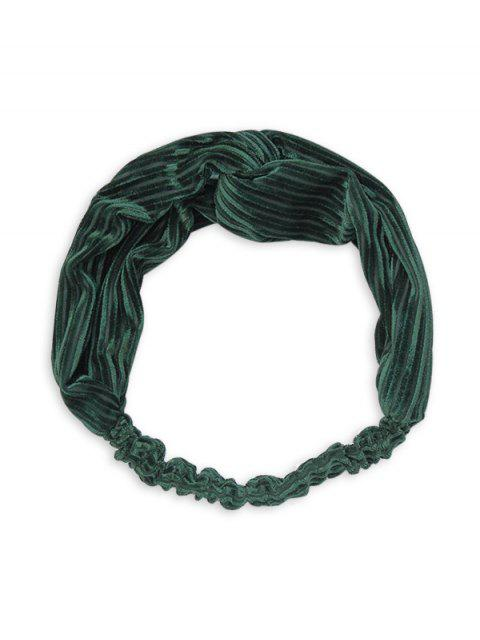 trendy Vintage Striped Cross Elastic Headband - DARK GREEN  Mobile