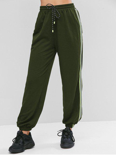 Pantalones ZAFUL neón reflectante del lado de cordón del basculador - Ejercito Verde M Mobile