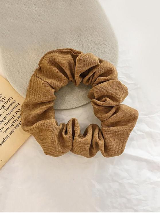 shop Plaid Pattern Vintage Fabric Scrunchy - CAMEL BROWN