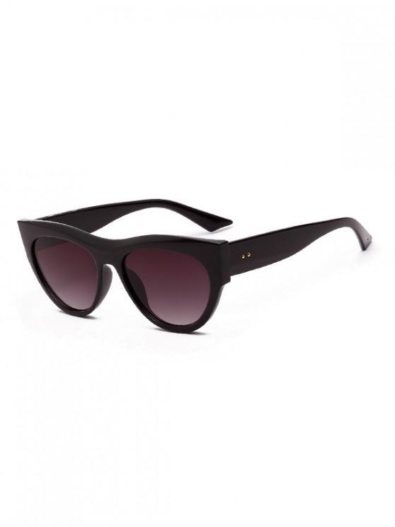 fancy Stylish Butterfly Vintage Leopard Pattern Sunglasses - BLACK