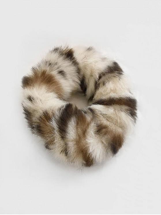 affordable Vintage Faux Fur Elastic Scrunchy - APRICOT