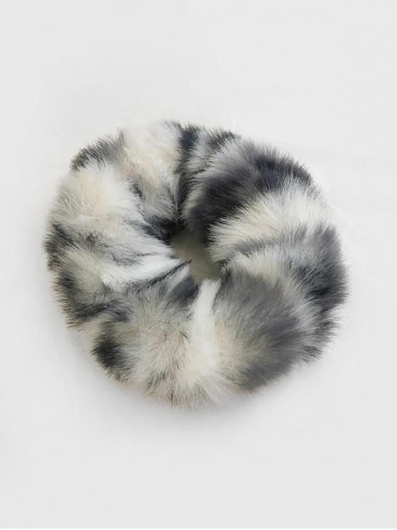 buy Vintage Faux Fur Elastic Scrunchy - GRAY