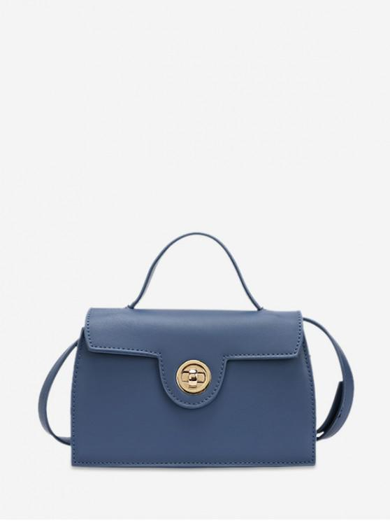 hot Crossbody Solid Hasp Shoulder Bag - SKY BLUE