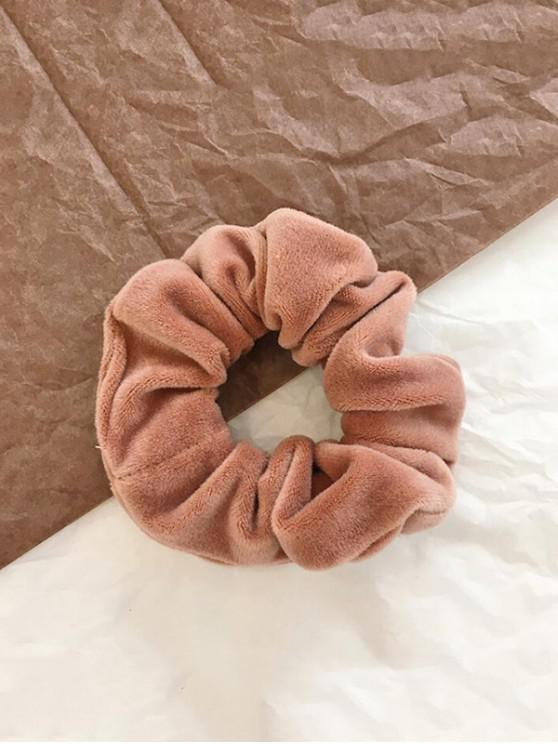 outfit Vintage Solid Velour Fabric Scrunchy - PINK