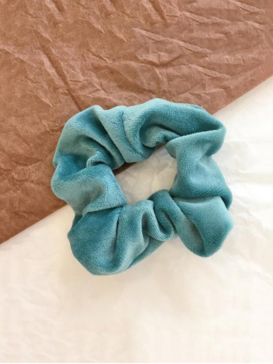 chic Vintage Solid Velour Fabric Scrunchy - MACAW BLUE GREEN