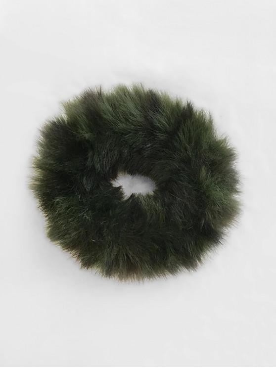 sale Vintage Faux Fur Elastic Scrunchy - DEEP GREEN