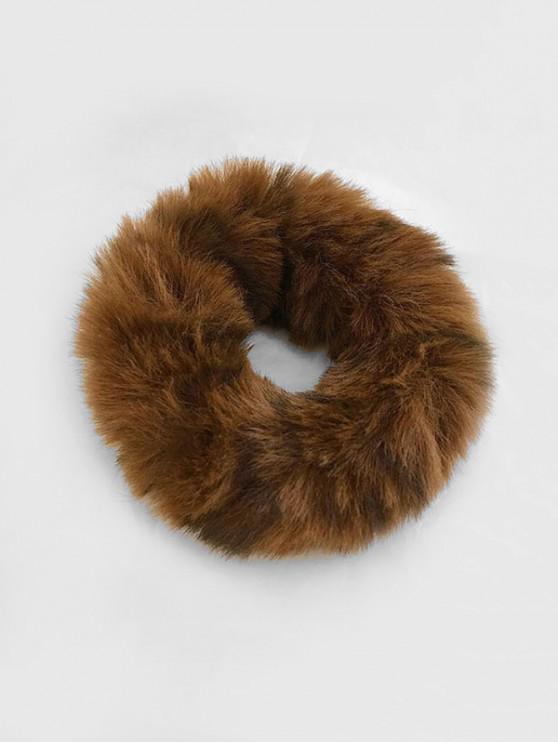 buy Vintage Faux Fur Elastic Scrunchy - CHESTNUT RED