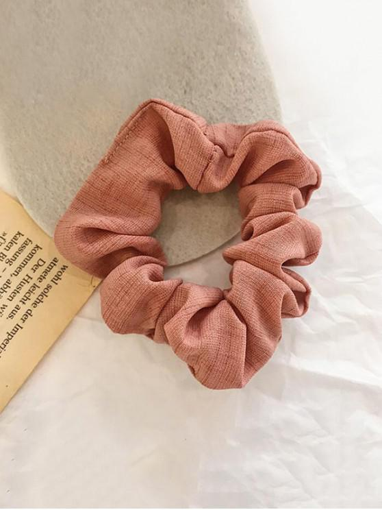 womens Plaid Pattern Vintage Fabric Scrunchy - PINK