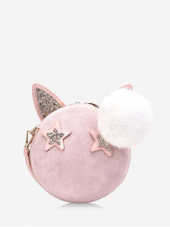 outfit Round Cartoon Ears Decorate Shoulder Bag - LIGHT PINK