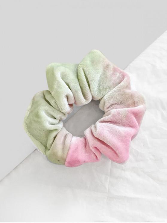 Scrunchy de tela de terciopelo con degradado teñido - Rosado