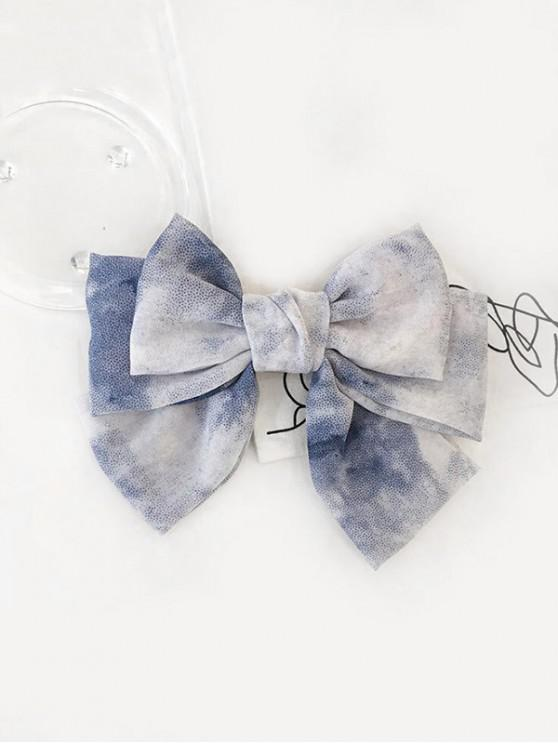 fashion Bowknot Chiffon Gradient Hair Clip - BLUE GRAY