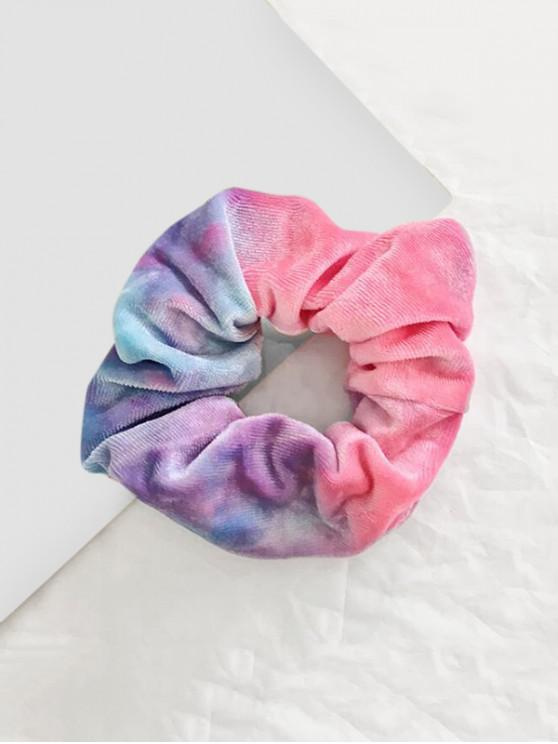 Scrunchy de tela de terciopelo con degradado teñido - Púrpura