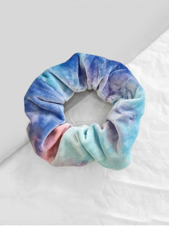 women's Tie Dyed Gradient Velour Fabric Scrunchy - BLUE