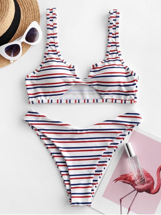 ZAFUL Bikini RecortadoaRayas - Multicolor-A S